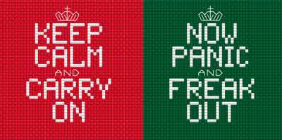 Keep Calm Cross Stitch Coaster Kit by Rainy Day Designs