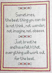 Have Faith Sampler Cross Stitch Kit by September Cottage Crafts
