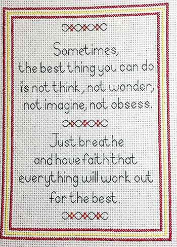Have Faith Sampler Cross Stitch Kit by Rainy Day Designs
