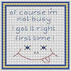 Right First Time Cross Stitch Coaster Kit by September Cottage Crafts