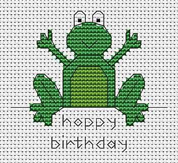 Hoppy Birthday Cross Stitch Card Kit by September Cottage Crafts