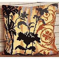 Silhouette Printed Cross Stitch Cushion Kit by Collection D'Art
