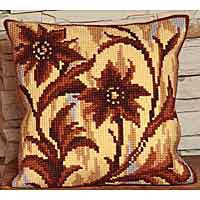 Silhouette Cross Stitch Cushion Kit by Collection D'Art.