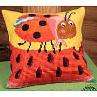 Miss Pott Printed Cross Stitch Cushion Kit by Collection D'Art..