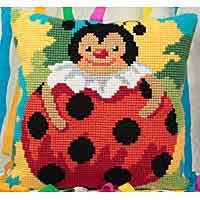 Columbine Printed Cross Stitch Cushion Kit by Collection D'Art..