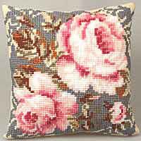 Ancient Rose Cross Stitch Cushion Kit by Collection D'Art..