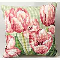 Tulip Cross Stitch Cushion Kit by Collection D'Art