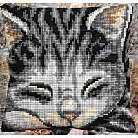 Jasmine Printed Cross Stitch Cushion Kit by Collection D'Art