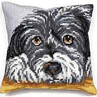 Faithful Cross Stitch Cushion Kit by Collection D'Art
