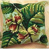 Hazelnut Printed Cross Stitch Cushion Kit by Collection D'Art