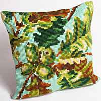 Acorn Printed Cross Stitch Cushion Kit by Collection D'Art