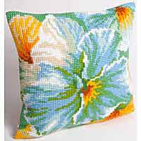 Spring Printed Cross Stitch Cushion Kit by Collection D'Art