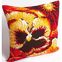 Summer Printed Cross Stitch Cushion Kit by Collection D'Art