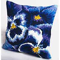 Winter Printed Cross Stitch Cushion Kit by Collection D'Art