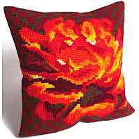 Velvet Rose Cross Stitch Cushion Kit by Collection D'Art