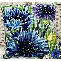 Blueberry Cross Stitch Cushion Kit by Collection D'Art