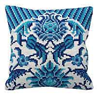 Zelliges Cross Stitch Cushion Kit by Collection D'Art
