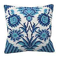 Zelliges Printed Cross Stitch Cushion Kit by Collection D'Art