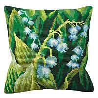 Lily of the Valley Cross Stitch Cushion Kit by Collection D'Art