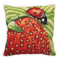 Garriguette Printed Cross Stitch Cushion Kit by Collection D'Art.