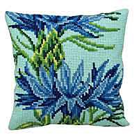 Blueberry Printed Cross Stitch Cushion Kit by Collection D'Art.