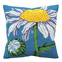 Marguerite Cross Stitch Cushion Kit by Collection D'Art.