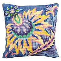 Joy Printed Cross Stitch Cushion Kit by Collection D'Art.