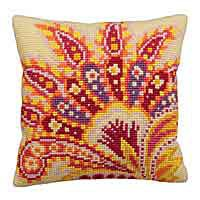 Passion Printed Cross Stitch Cushion Kit by Collection D'Art.