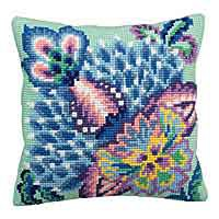 Romance Cross Stitch Cushion Kit by Collection D'Art.