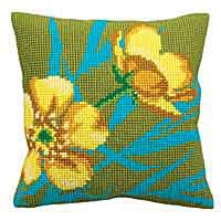 Golden Button Cross Stitch Cushion Kit by Collection D'Art.