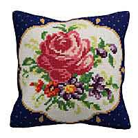 Meissen Printed Cross Stitch Cushion Kit by Collection D'Art.