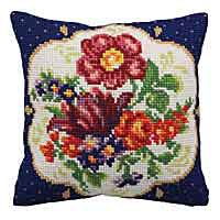 Meissen Printed Cross Stitch Cushion Kit by Collection D'Art