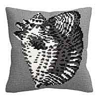 Conch Cross Stitch Cushion Kit by Collection D'Art