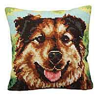 Boulie Printed Cross Stitch Cushion Kit by Collection D'Art.