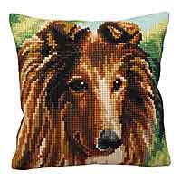 Lassie Cross Stitch Cushion Kit by Collection D'Art.