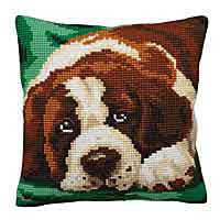 Bernie Printed Cross Stitch Cushion Kit by Collection D'Art.
