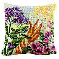 Lupin Dream Cross Stitch Cushion Kit by Collection D'Art