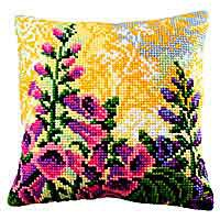 Lupin Dream Cross Stitch Cushion Kit by Collection D'Art.