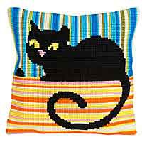 Ms Cool Cross Stitch Cushion Kit by Collection D'Art.