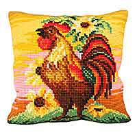 Top Brass Printed Cross Stitch Cushion Kit by Collection D'Art.