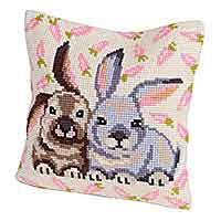 Flopsy and Mopsy Cross Stitch Cushion Kit by Collection D'Art.