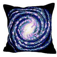Vortex Printed Cross Stitch Cushion Kit by Collection D'Art.