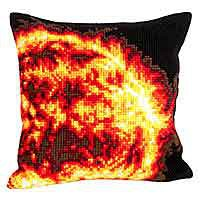 Sun Printed Cross Stitch Cushion Kit by Collection D'Art.