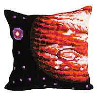 Jupiter Printed Cross Stitch Cushion Kit by Collection D'Art.