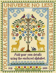 Tree of Life Sampler Cross Stitch Kit By Bothy Threads