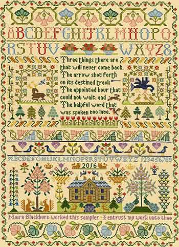 Three Things Sampler Cross Stitch Kit By Bothy Threads