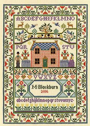 Country Cottage Sampler Cross Stitch Kit By Bothy Threads