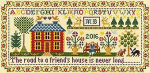 Friends House Sampler Cross Stitch Kit By Bothy Threads