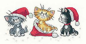 Christmas Kittens Cross Stitch Kit by Heritage Crafts