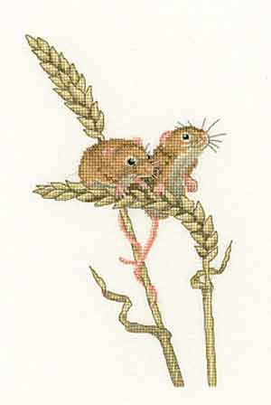 Harvest Mice Cross Stitch Kit by Heritage Crafts
